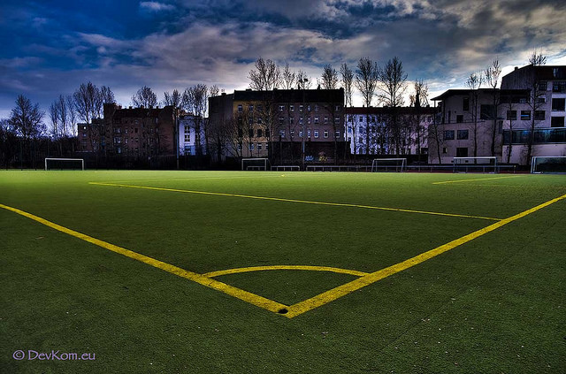 Soccer field, photograph by Devesh, through devkom.eu. All rights reserved