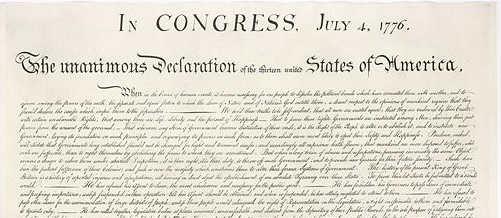 Collaborative writing brings innovation: Declaration of Independence