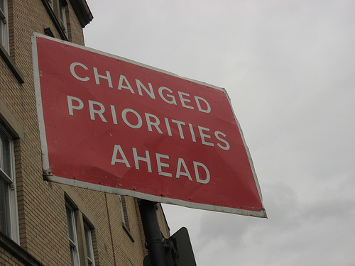 Changes come to goals and priorities