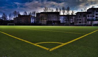 Soccer field, photograph by Devesh, through devkom.eu. All rights reserved